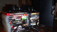 ps3 with 21 games and two controllers.