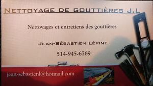 Nettoyage reparation de Gouttieres  J.L enr.