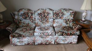 KING SIZE MATTRESS,SOFA SET,TABLE,CHAIRS, T.V.,SEWING MACHINE,