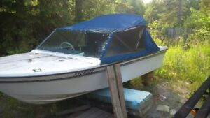 60 hp evinrude motor and boat forsale