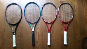 Tour tennis racquets - end of season sale (added 3 more)