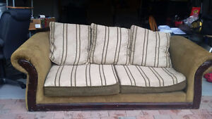 Couch, Chaise, Over Sized Arm Chair and Hutch