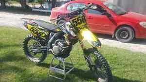 2013 rmz 450 trade for rev snowmobile  Kawartha Lakes Peterborough Area image 2