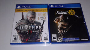 The Witcher 3-Complete Edition and Fallout 76