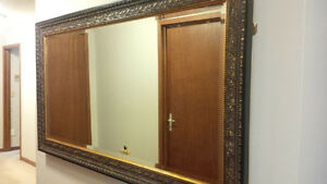Guilded wood framed mirror