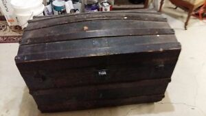 Old Trunk ($25) and Pine Blanket box (75)