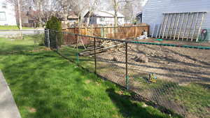 72' Chain link fencing.
