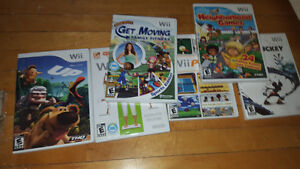 WII CONSOLE BUNDLE AND WII FIT BOARD