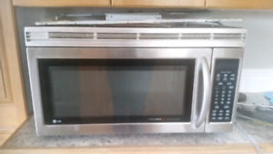 LG over the stove mounted microwave