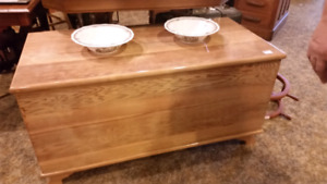 Solid wood antique blanket box 199