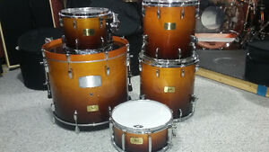 Pearl Session Custom SMX  Maple Vintage Fade 5pc shell pack