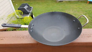 Metal Wok with non stick coating