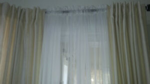 Professionally made curtains