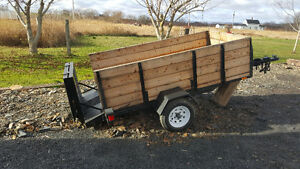 Motorcycle/snowmobile trailer