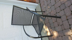 Stacking outdoor deck/bistro chairs