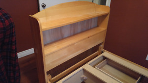 SOLD & GONE Captain's bed with bookshelf headboard