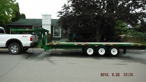 Flat Deck 5th wheel Tri-axle Prince George British Columbia image 1