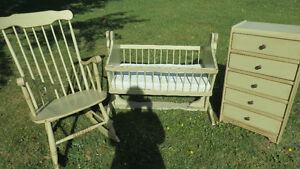 Antique Baby Bedroom Set