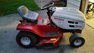 White Riding Lawnmower