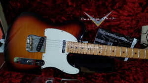 Like New '13 Fender Tele Custom Shop Dlx Faded 3 Colour-Case+CoA
