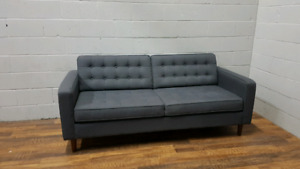 Free Delivery: EQ3 Modern Tufted Sofa - Gray