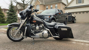 2001 Harley Electra Glide Classic, Bagger, Stretched bags