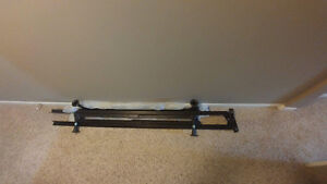 Queen metal bed frame $40+ box spring free