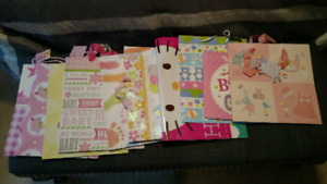 Lot of 12 baby/baby shower gift bags
