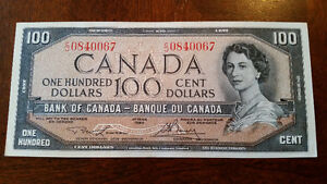 MINT 1954 100$ bill. as close to a perfect 10 as you'll ever see