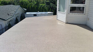 FLEXSTONE DECK COATINGS.  TOUGH COATINGS FOR CANADIAN CLIMATE