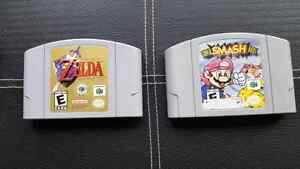 Nintendo 64 (N64) Games: Zelda Ocarina and Smash Bros