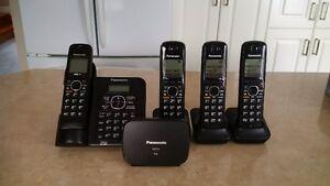 Systeme telephonique (4) sans fil numerique avec repondeur
