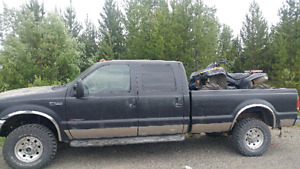 2000 ford f-350 7.3 diesel truck and camper combo