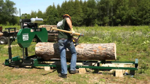 Wood mill for rent or hire
