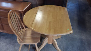 drop leaf table and chair