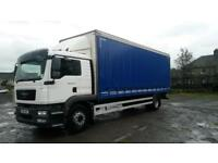 2011 MAN TGM 18.250 18 tonne curtain, Sleeper Cab, tuck away tail lift,