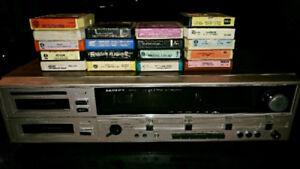 Vintage Lloyd's dual 8 track player/recorder stereo receiver