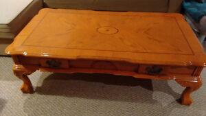 Wood coffee table Cambridge Kitchener Area image 1