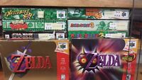 N64☆Goldeneye-007☆Zelda♢Bomberman☆N64 Games with Boxes☆