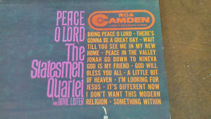 LP: Peace O Lord, The Statesmen Quartet with Hovie Lister Kitchener / Waterloo Kitchener Area image 2