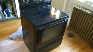 Glass Top Electric Range (black)