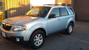 2008 MAZDA TRIBUTE, SUV, FULLY LOADED, BLACK LEATHER, AWD