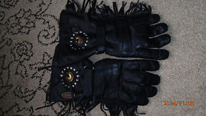 Road Krome mens leather riding gloves