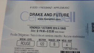 Drake & Future ticket for October 7th, 2016 in Montreal