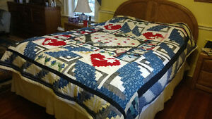 Quilt, Bedspread, 'Pillow Talk'  NEW STOCK
