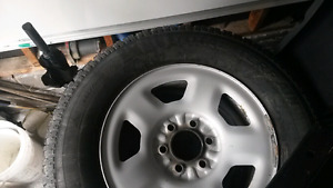Ford F150 winter tires on  rims.  265/70/17
