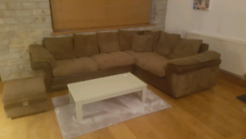 L shaped brown sofa for sale
