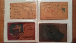 lot de plus de 20 cartes postale en cuir RARE