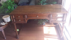 Sold Wood Desk. Top Needs Attention.