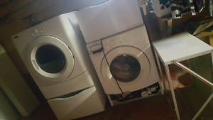 washer and dryer set.
